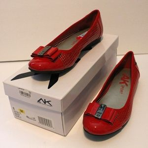 Anne Klein Sport Flats Red Bow Brand New